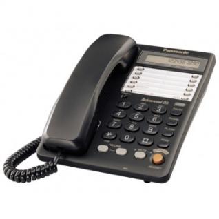 Телефон Panasonic KX-TS2365RUB чёрный,память 30 ном.