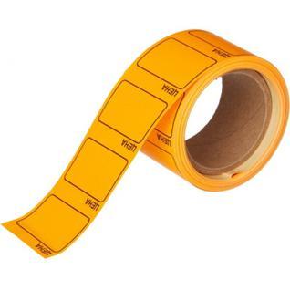 Ценники самоклеящиеся Цена 35x25мм, оранжевая 250шт/рул, 5 рул/уп