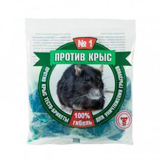 Средство от грызунов Против крыс тесто-брикеты 200г ПКБТП200