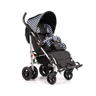 АРМЕД Кресло-коляска для детей-инвалидов и детей с заболеваниями ДЦП с принадлежностями: VCG0C UMBRELLA NEW (пневмо, чёрно-белая клетка-чёрный)
