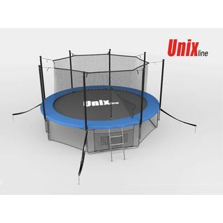 UNIX Батут с сеткой внутри Unix 14 ft inside (blue)