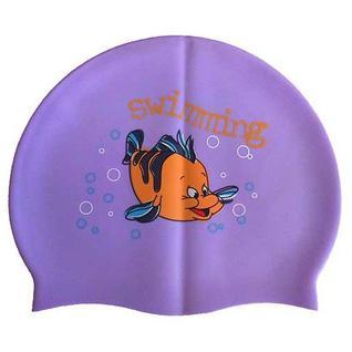 Шапочка для плавания силиконовая с рисунком Dobest Rh-с20 (фиолетовая)