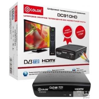 D-Color Ресивер DVB-T2 D-Color DC910HD черный