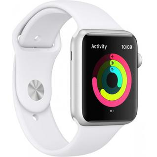 Часы Apple Watch Series 3 GPS 42mm Silver Aluminum Case with White Sport Band MTF22