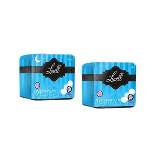 Прокладки гигиенические Linell Premium Night Ultra с крылышками 9 шт
