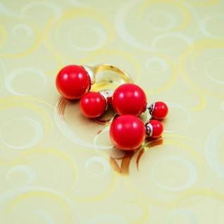 """Кольцо в стиле """"Диор"""" в ассортименте (белый и красный цвет)"""