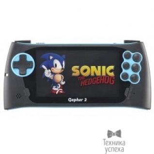 """Sega SEGA Genesis Gopher 2 LCD 4.3"""", +500 игр (синяя) ConSkDn51"""