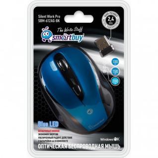 Мышь компьютерная Smartbuy 612AG синяя, Blue LED (SBM-612AG-BK)