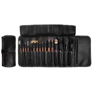 Профессиональные кисти для макияжа - Набор JUST на 16 кистей для макияжа в черном кофре на клипсе