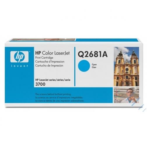 Оригинальный картридж Q2681A для HP CLJ 3700 (голубой, 6000 стр.) 879-01 Hewlett-Packard 852432 1
