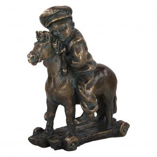 Статуэтка «Мальчик на лошадке» (скульптура) (Античная бронза)