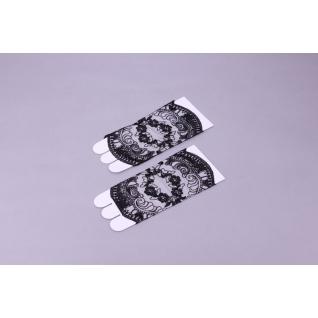 Перчатки свадебные №134, черный (короткие)