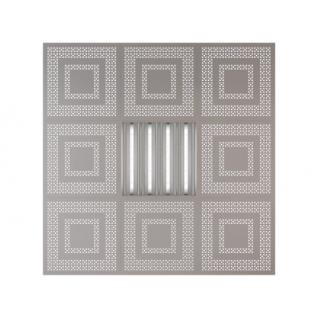Потолочная плита Presko Цезарь 59.5х59.5 металлик