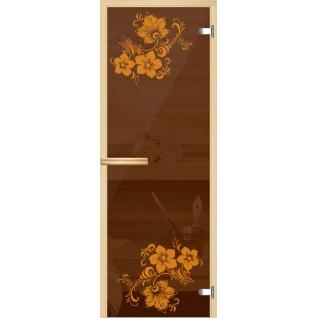 Арт-серия (AJIO) 7х19 (8мм) с рисунком: коробка -осина/липа: Герань