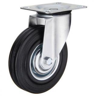 Колесо для тележки SC 200, повор, литая резина, без торм, 200мм