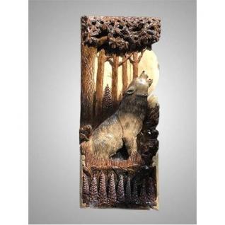 """Резное панно из дерева на стену """"Волк"""""""