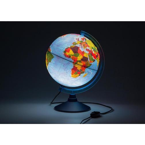 Глобус Физико-политический с подсв. рельефный,250мм, Ке022500195 37875040 2