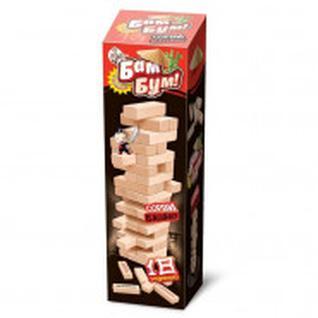 Настольная игра для детей и взрослых Бам-бум падающая башня 01741
