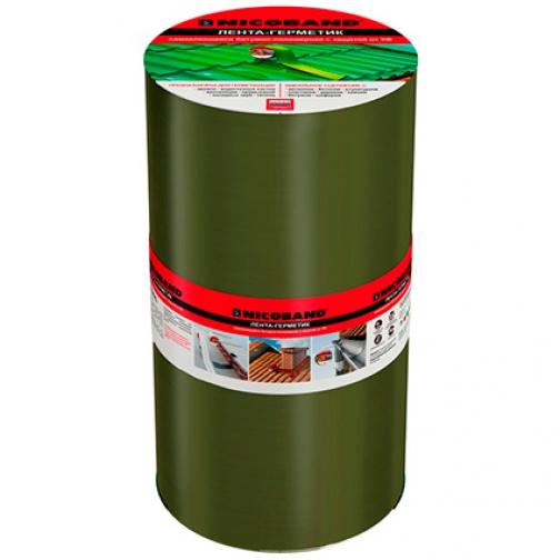 ТЕХНОНИКОЛЬ Никобенд гидроизоляционная лента 30см х 10м зеленый / NICOBAND гидроизоляционная лента 30см х 10м зеленая Технониколь 36984026