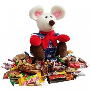 Новогодний сладкий подарок Тима игрушка 1000гр 45х20х19 см 9498 МосУпак