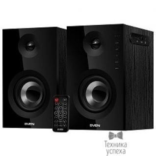 Sven SVEN SPS-721 чёрный акустическая система 2.0, мощность 2x25 Вт (RMS), USD/SD, пульт ДУ, Bluetooth