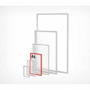 Рамка пластиковая А4, красный, 10шт/уп