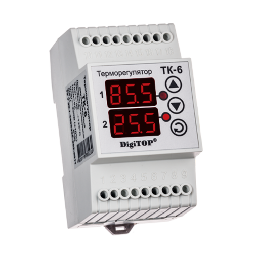 Терморегулятор DigiTOP ТК-6 (крепление на DIN-рейку) 6775762