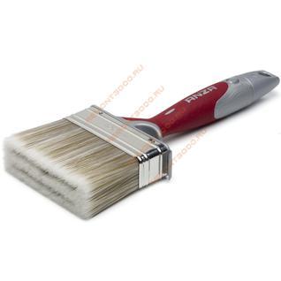 АНЗА кисть плоская 100мм для наружных и внутренних работ / ANZA Elite 347490 кисть флейцевая 100х30мм искусственная щетина прорезиненная ручка Анза