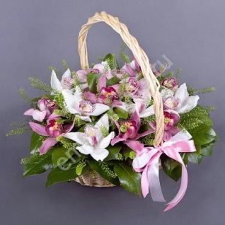 Корзинка с цветами-6