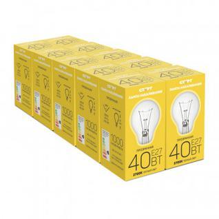 Электрическая лампа СТАРТ стандартная/прозрачная 40W E27 10 шт
