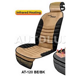 Накидка на сиденье с инфракрасным подогревом AUTOLUX HT-120 BE/BK