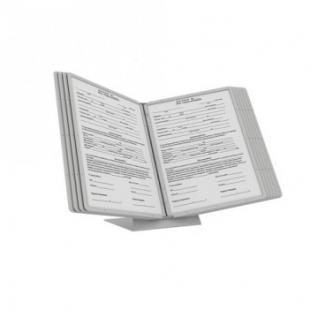 Система настольная перекидная, 10 карманов формат А4, сер.цв.