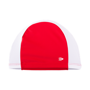 Шапочка для плавания, полиамид, Longsail красный/белый