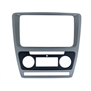 Переходная рамка Intro RSC-8676 A-SL для Skoda Octavia 04-12 Silver (Clima) Intro