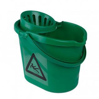 Ведро с отжимом 12л МВК7 G зелёное