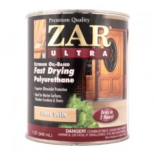Лак полиуретановый ZAR ULTRA EXTERIOR глянц. 0,946 л., в уп. 4 шт.