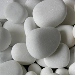 Декоративная галька белая для биокамина