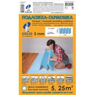 Подложка Гармошка Solid Синия 5мм Солид