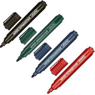 Набор перманентных маркеров Attache (син., зел., красн., черн.)