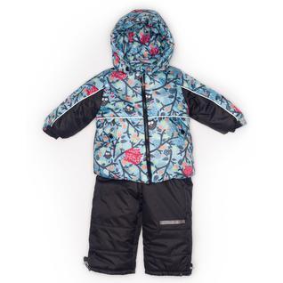 Комплект MalekBaby (Куртка + Полукомбинезон), Без опушки, №331/1 (Совы+черный) арт.409ШМ