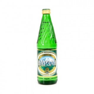 Вода минеральная Нарзан стекл.бут. 0,5л газ 12 шт/уп