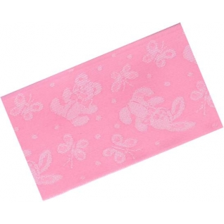 "Лента атласная лн.0018 64 мм, цвет розовый ""Зайки-мишки-бабочки"", 3 м."