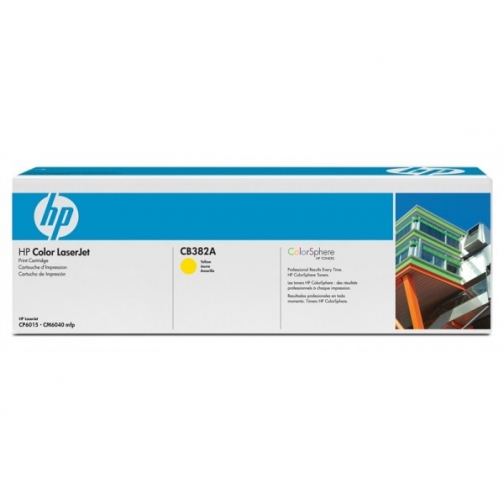 Оригинальный картридж HP CB382A для HP Сolor LJ CP6015, CM6030MFP, жёлтый, 21000 стр. 832-01 Hewlett-Packard 852503 1