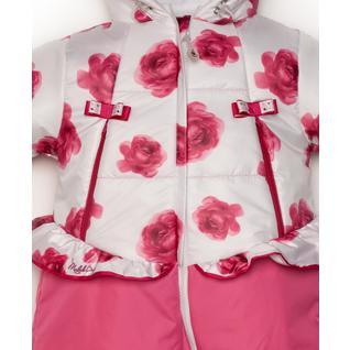 Комбинезон MaLek BaBy Весна-Осень, розовые розы+розовый 234Т