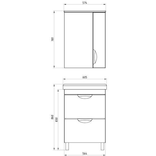Подстолье Миранда 60 (Белый) ASB-Woodline 38117082 3