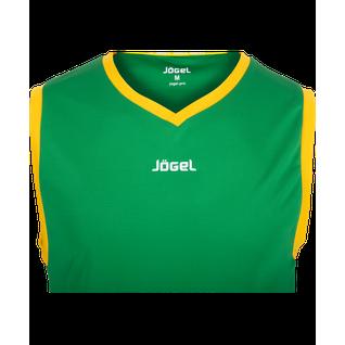 Майка баскетбольная Jögel Jbt-1020-034, зеленый/желтый, детская размер YM