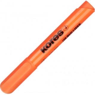 Маркер выделитель текста KORES 1-4 мм оранжевый 36004