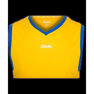 Майка баскетбольная Jögel Jbt-1020-047, желтый/синий, детская размер YL