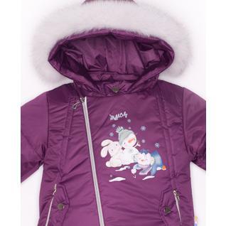 Комплект MalekBaby (Куртка + Полукомбинезон), С опушкой, Фиолетовый арт.412ШМ/2