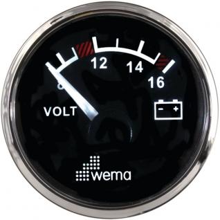 Wema Вольтметр 12 В Wema IPVR-BB-8-16 8 - 16 В 52 мм
